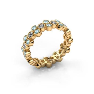 Bague Victoria 585 or jaune diamant synthétique 0.66 crt