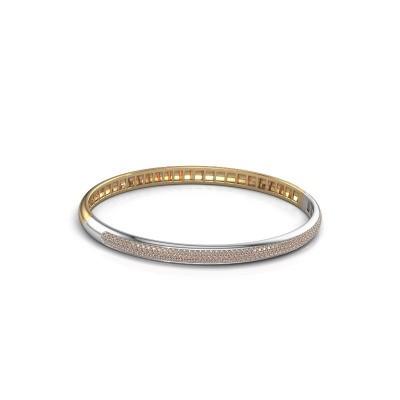 Armband Emely 5mm 585 goud bruine diamant 1.178 crt