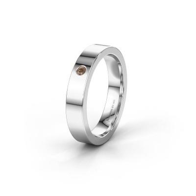 Alliance WH0101L14BP 925 argent diamant brun ±4x1.5 mm