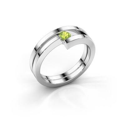 Foto van Ring Nikia 925 zilver peridoot 3.4 mm