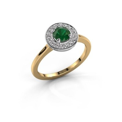 Picture of Ring Agaat 1 585 gold emerald 5 mm