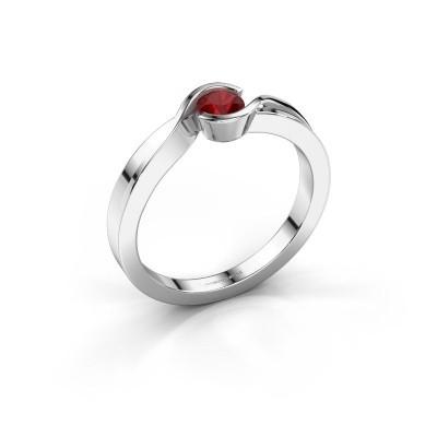 Foto van Ring Lola 585 witgoud robijn 4 mm