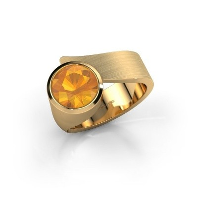 Photo de Bague Nakia 585 or jaune citrine 8 mm