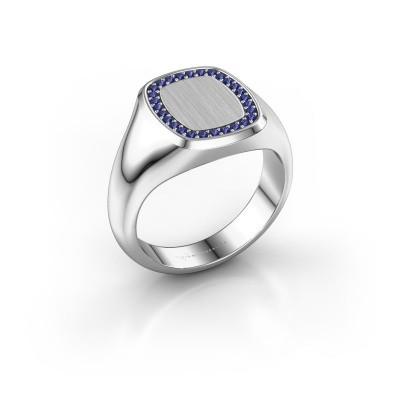 Men's ring Floris Cushion 2 925 silver sapphire 1.2 mm