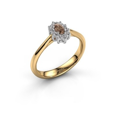 Foto van Verlovingsring Leesa 1 585 goud bruine diamant 0.50 crt