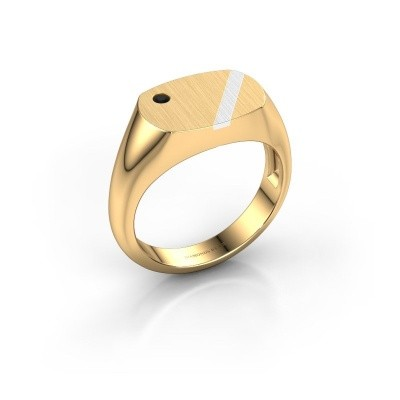 Foto van Heren ring Bram 2 585 goud zwarte diamant 0.036 crt