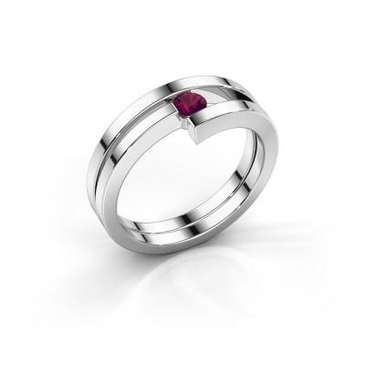 Foto van Ring Nikia 925 zilver rhodoliet 3.4 mm