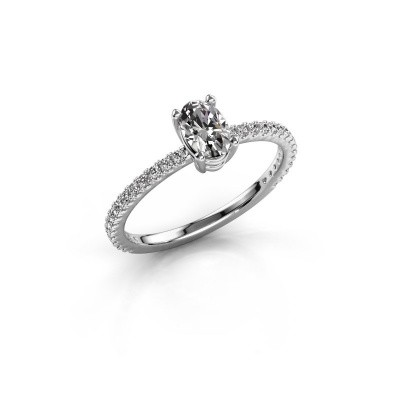 Picture of Engagement ring Lynelle 2 585 white gold diamond 0.50 crt