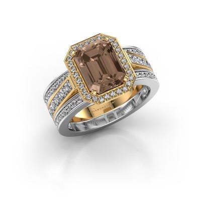 Ring Dodie 3 585 goud bruine diamant 3.49 crt