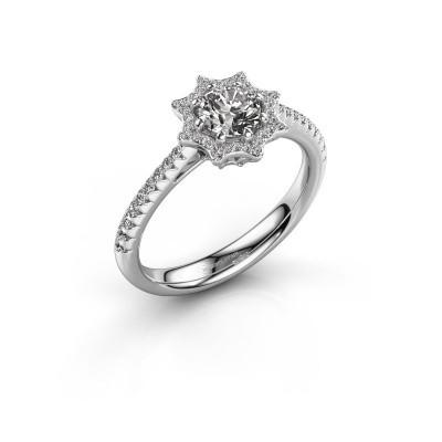 Aanzoeksring Zena 950 platina diamant 0.730 crt