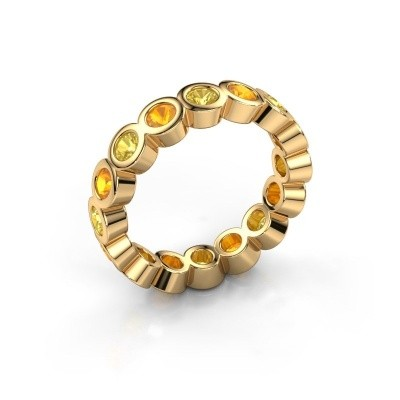 Stackable ring Edwina 3 375 gold yellow sapphire 3 mm
