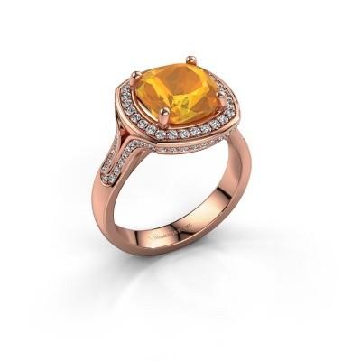 Ring Lili 375 rosé goud citrien 9 mm