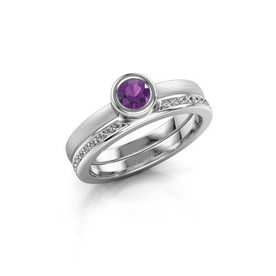 Picture of Ring Cara 950 platinum amethyst 4 mm