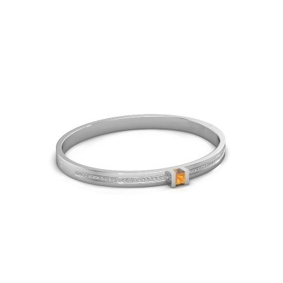 Foto van Armband Desire 585 witgoud citrien 4 mm
