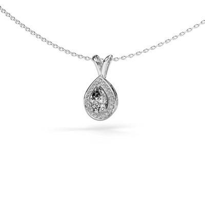 Foto van Ketting Ginger 585 witgoud diamant 0.505 crt