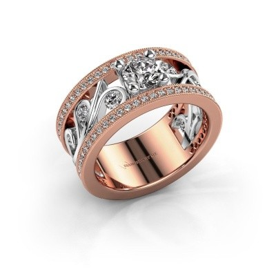 Ring Sanne 585 rosé goud zirkonia 5 mm