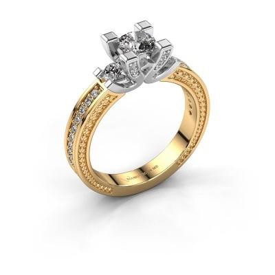 Foto van Aanzoeksring Ninthe 585 goud lab-grown diamant 0.889 crt