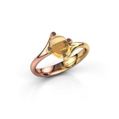 Ring Nora 585 rosé goud citrien 8x6 mm