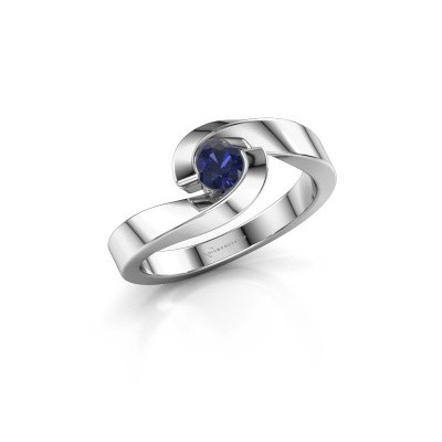 Picture of Ring Sheryl 585 white gold sapphire 4 mm