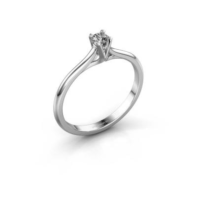 Foto van Verlovingsring Isa 1 express 585 witgoud diamant 0.25 crt