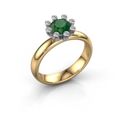Stapelring Carola 3 585 goud smaragd 6 mm