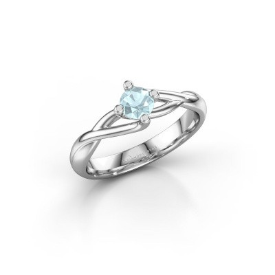 Picture of Ring Paulien 585 white gold aquamarine 4.2 mm