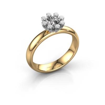 Stapelring Carola 1 585 goud lab-grown diamant 0.50 crt