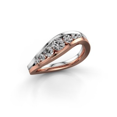 Foto van Ring Sigrid 2 585 rosé goud zirkonia 4 mm
