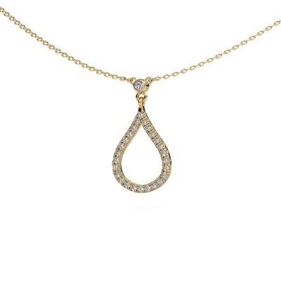 Ketting Alona 375 goud lab-grown diamant 0.29 crt
