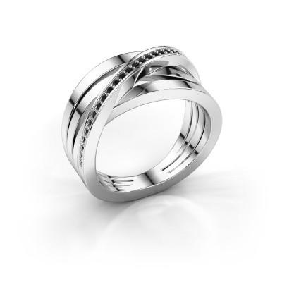 Ring Esmee 585 witgoud zwarte diamant 0.174 crt