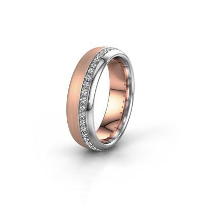 Trouwring WH0303L36BMP 585 rosé goud zirkonia ±6x2 mm