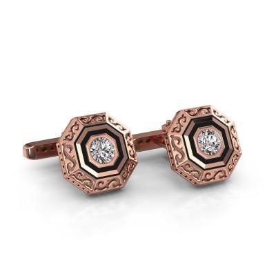 Cufflinks Dion 375 rose gold diamond 1.00 crt