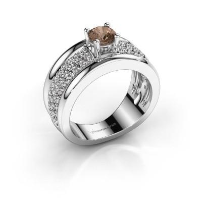 Foto van Ring Alicia 925 zilver bruine diamant 1.31 crt
