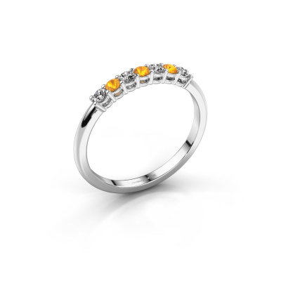 Engagement ring Michelle 7 585 white gold citrin 2 mm