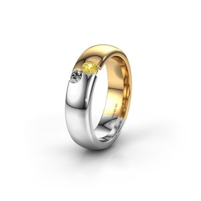 Wedding ring WH1003L26C 585 gold yellow sapphire ±0.24x0.09in