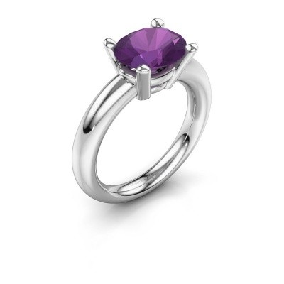 Ring Janiece 925 zilver amethist 10x8 mm