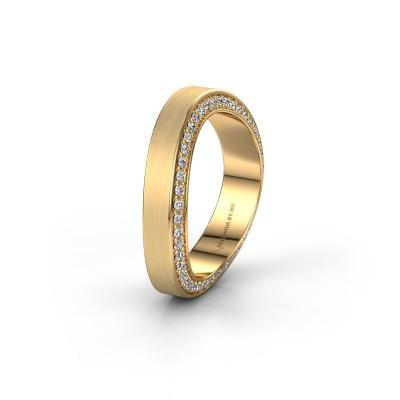 Trouwring WH2029AM 375 goud diamant ±5x2.2 mm