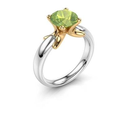 Ring Jodie 585 white gold peridot 8 mm