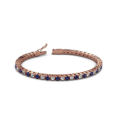 Tennisarmband Karin 3.5 mm 375 rosé goud diamant 4.32 crt
