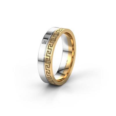 Foto van Huwelijksring WH0252L24X 585 goud diamant ±4x1.5 mm