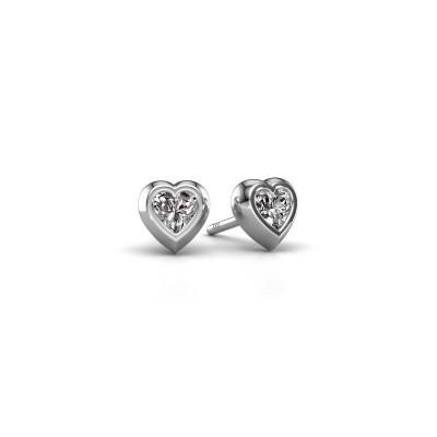 Bild von Ohrsteckers Charlotte 950 Platin Diamant 0.50 crt