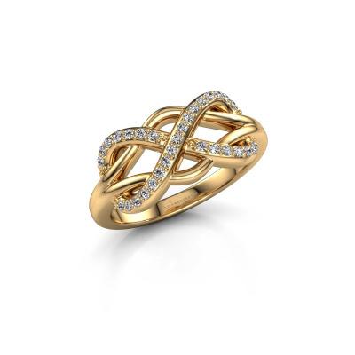 Foto van Ring Lizan 585 goud diamant 0.208 crt