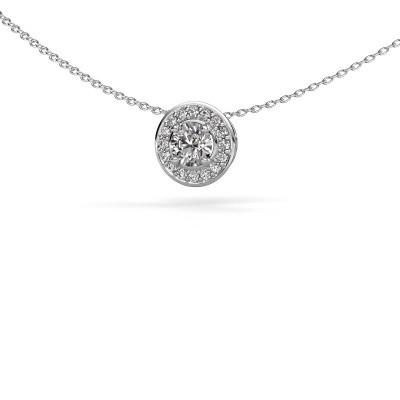 Hanger Agaat 925 zilver zirkonia 5 mm