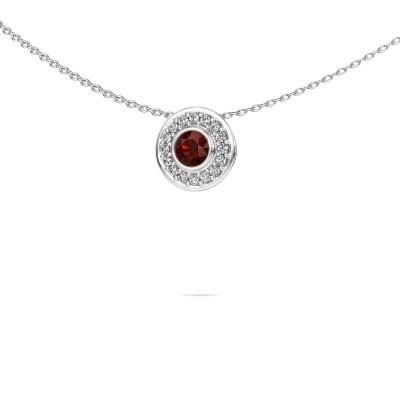 Picture of Necklace Gretta 585 white gold garnet 4 mm