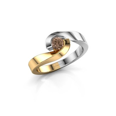 Picture of Ring Sheryl 585 gold brown diamond 0.25 crt