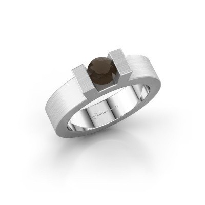 Picture of Ring Leena 1 585 white gold smokey quartz 5 mm
