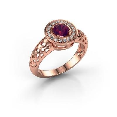 Foto van Ring Katalina 375 rosé goud rhodoliet 5 mm