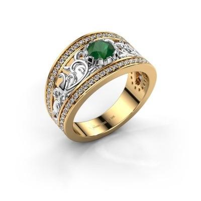 Foto van Ring Marilee 585 goud smaragd 5 mm
