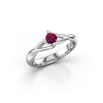 Picture of Engagement ring Paulien 585 white gold rhodolite 4 mm