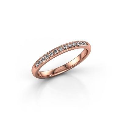 Stackable ring SR20B6H 375 rose gold lab grown diamond 0.168 crt